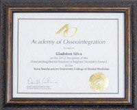 Academy of Osseointegration certificate